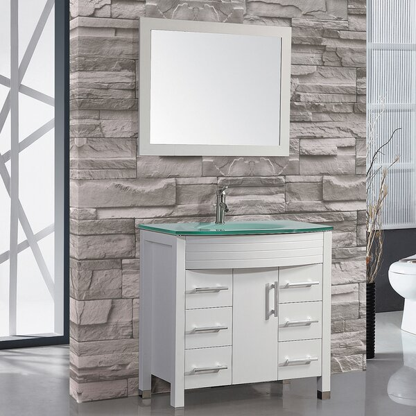Prall 36 Single Sink Bathroom Vanity Set with Mirror by Orren Ellis