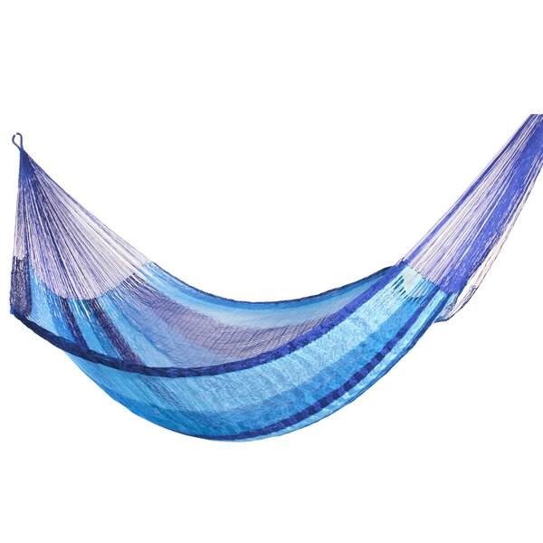 Rahima Single Person Comfortable Striped Earth Tones Hand-Woven Nylon with Accessories Included Indoor/Outdoor Hammock by World Menagerie World Menagerie