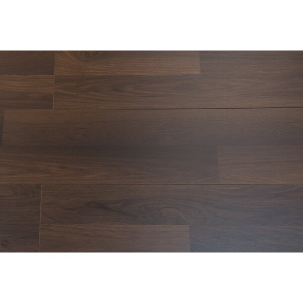 Porto 9 x 48 x 8mm Hickory Laminate Flooring in Carob by Branton Flooring Collection