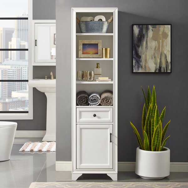 Witton 18 W x 67.62 H Linen Tower by Gracie Oaks