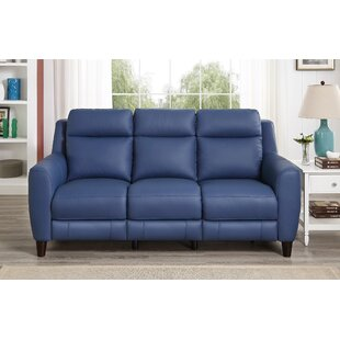 Florence Power Genuine Leather 3 Seater Reclining Sofa ...