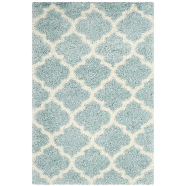 Bingham LightBlue/Ivory Area Rug by Charlton Home