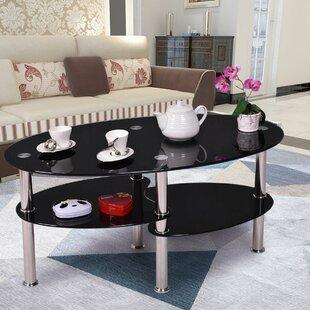 Jaden Tempered Glass Coffee Table Orren Ellis