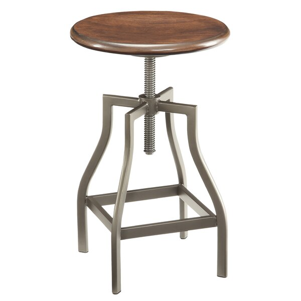 Berger Adjustable Height Swivel Bar Stool by Williston Forge
