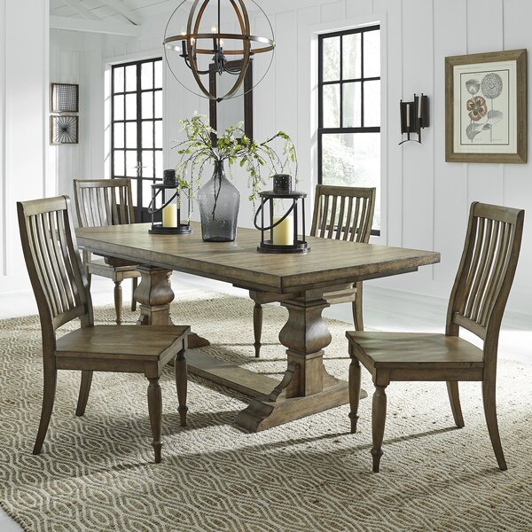 Zachariah 5 Piece Extendable Dining Set by Alcott Hill