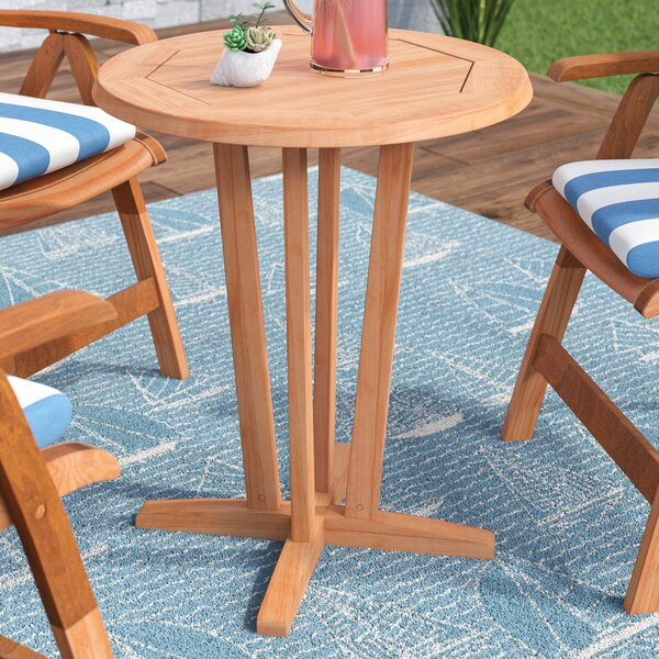 Elsmere Teak Dining Table by Beachcrest Home