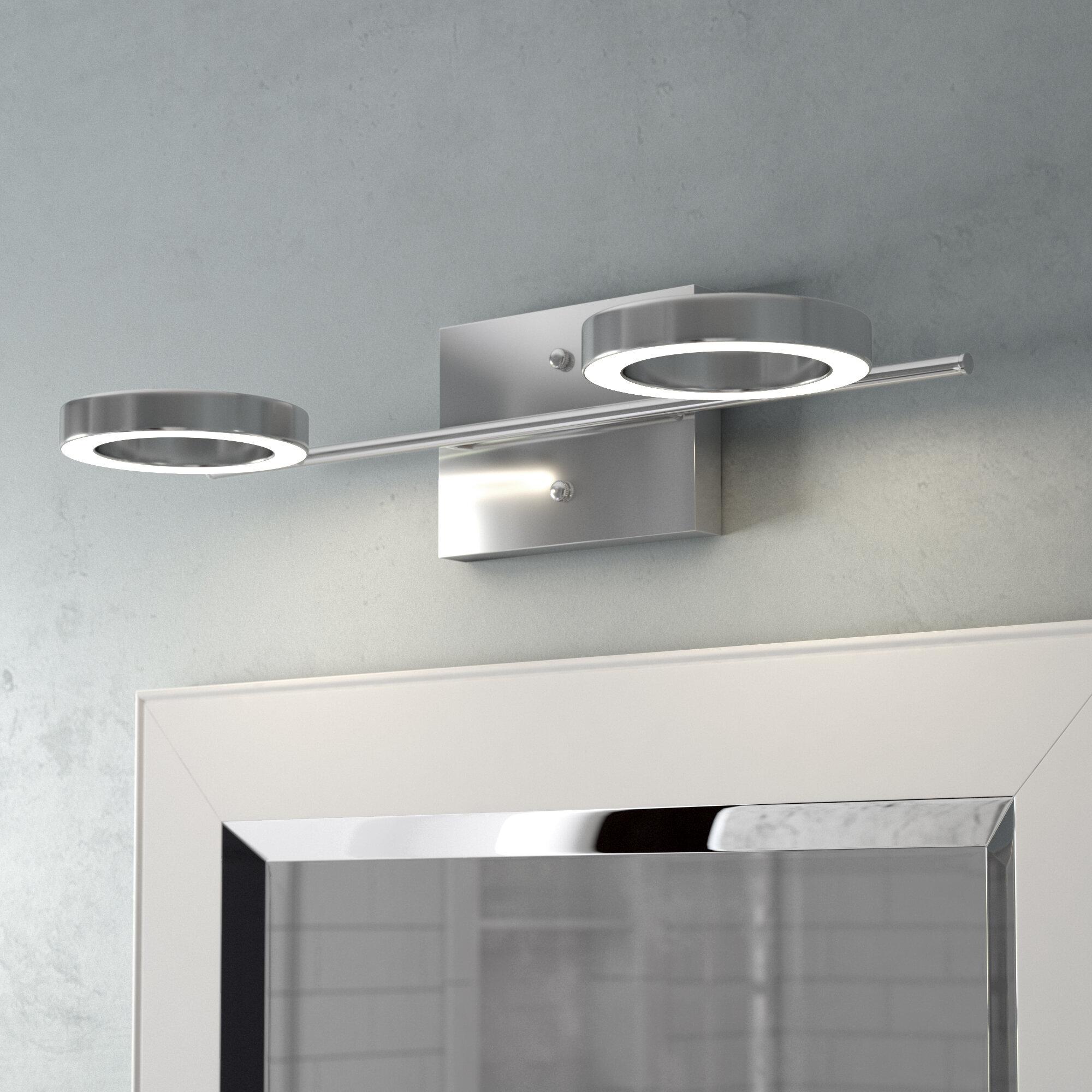 orren ellis dominique 2 light led vanity light reviews wayfair