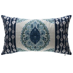 Tivoli Damask Outdoor Lumbar Pillow By Bombay Outdoors
