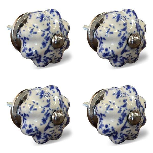 Handpainted Novelty Knob (Set of 4) by Taj Hotel