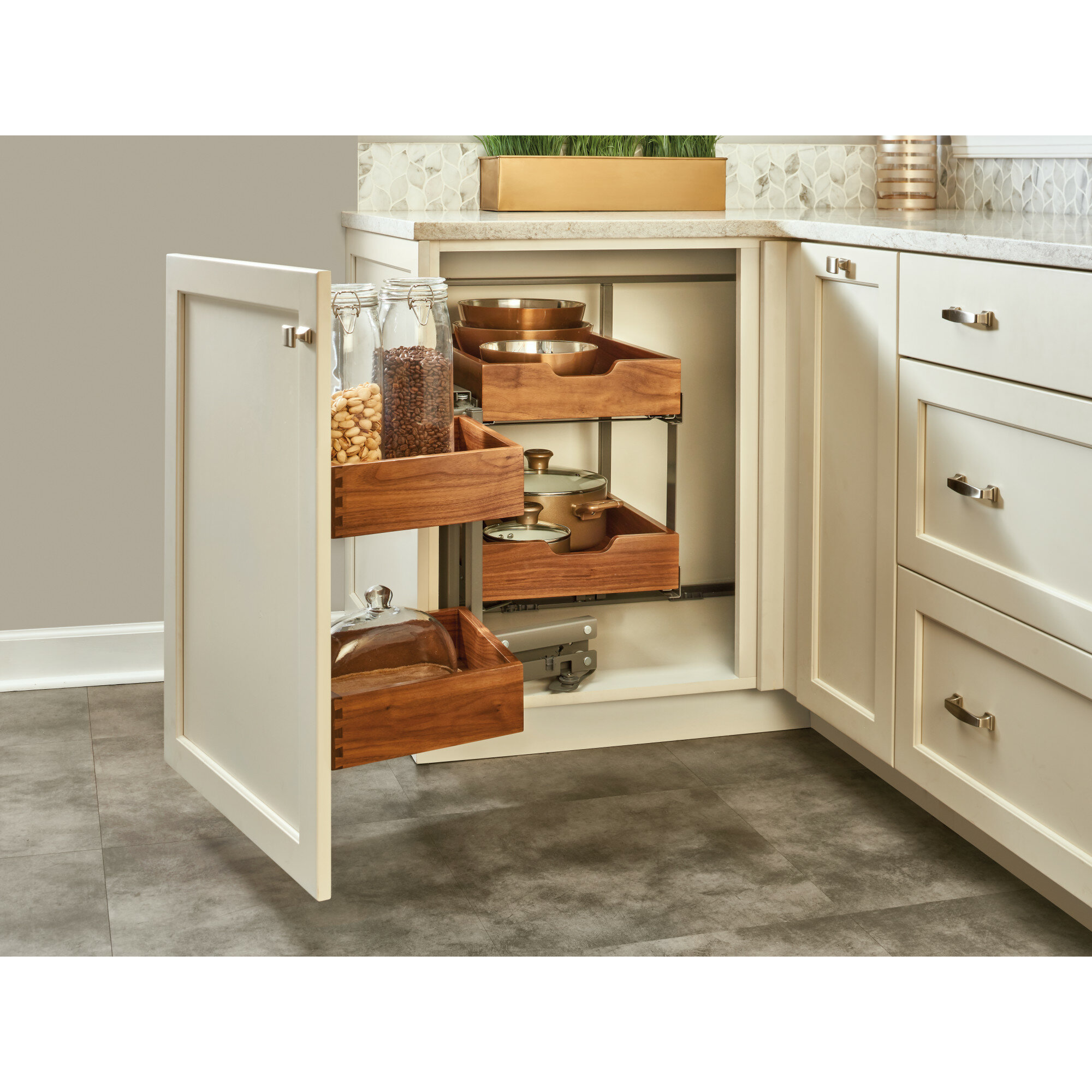 Rev A Shelf Blind Corner Cabinet Organizer Pull Out Pantry Wayfair