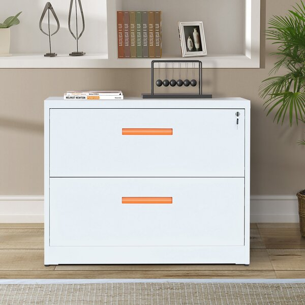 Sahag Metal 2-Drawer Lateral Filing Cabinet