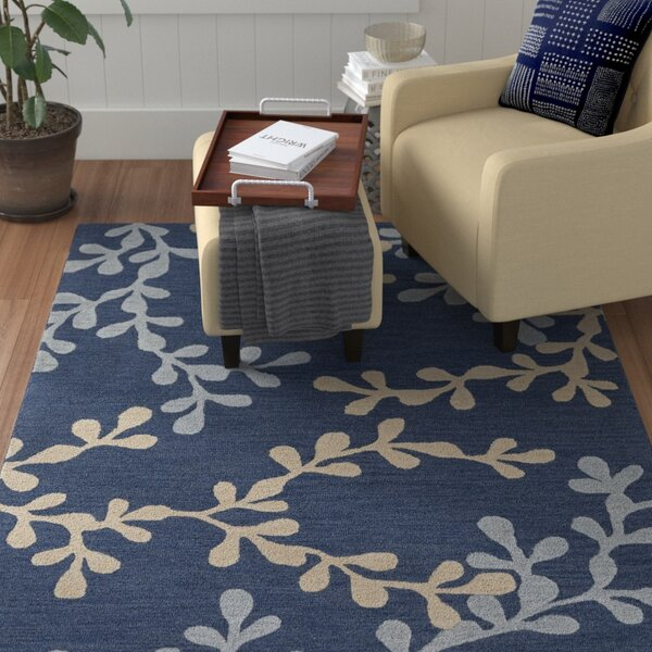 Coutu Hand-Tufted Blue/Slate Area Rug by Red Barrel Studio
