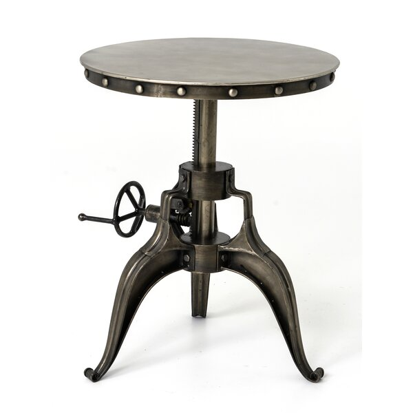 Valparaiso Crank End Table by 17 Stories