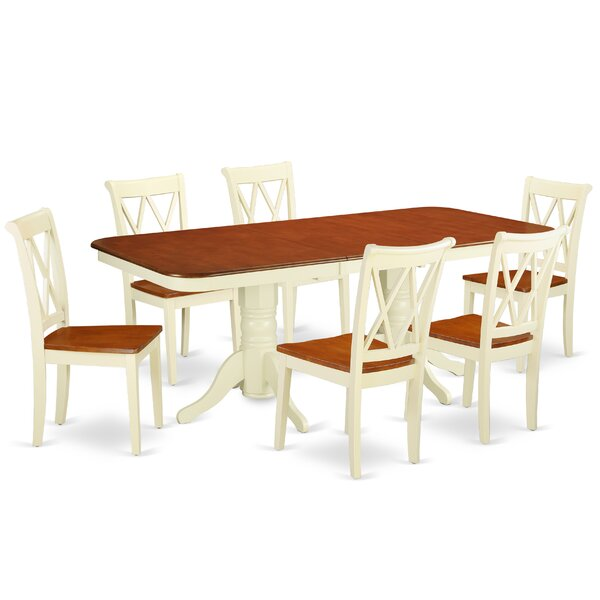 Laffoon 7 Piece Extendable Solid Wood Dining Set by August Grove