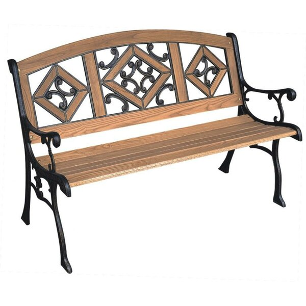 Florence Wood and Cast Iron Park Bench by DC America