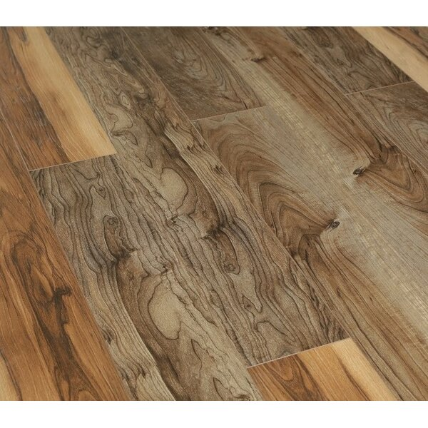 Urban View 7 x 49 x 12mm Laminate Flooring in Brown (Set of 5) by Christina & Son