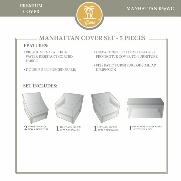 Manhattan Winter 5 Piece Cover Set by TK Classics