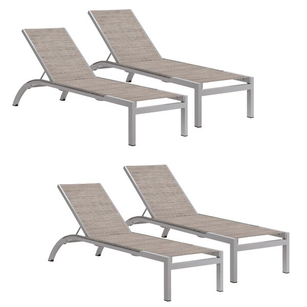 Saleem Reclining Chaise Lounge (Set of 4)