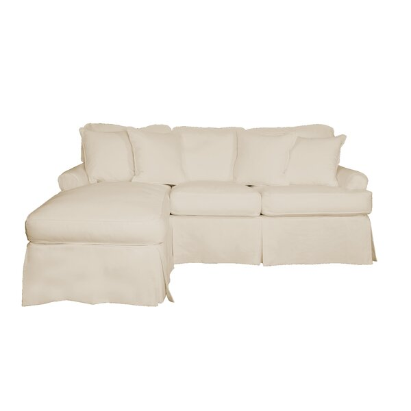 Huguley T-Cushion Sofa and Chaise Lounge Slipcover by Symple Stuff