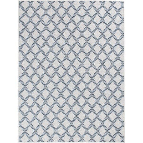 Almeda Diamond Gray Indoor/Outdoor Area Rug