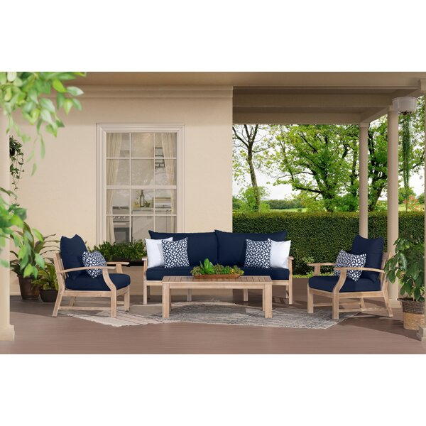 Yvonne 4 Piece Sofa Seating Group with Sunbrella Cushions by Bay Isle Home Bay Isle Home
