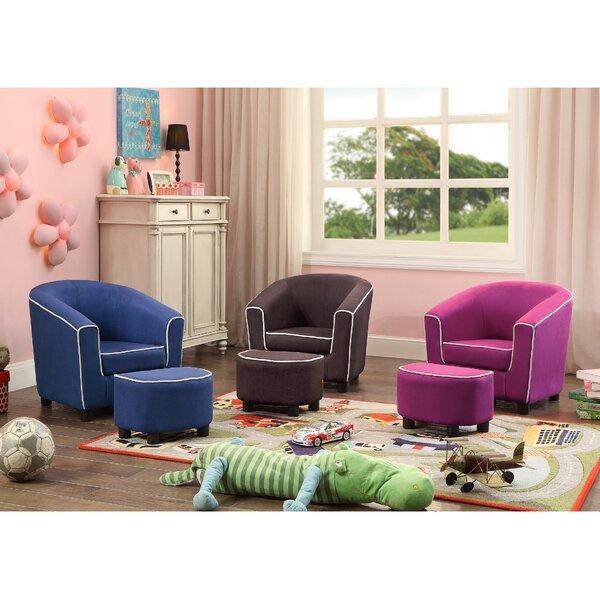 Joshua Kids Club Chair and Ottoman by Viv + Rae