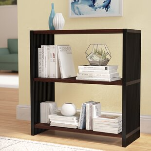 Best Reviews Maxime Resin Slatted Bookcase by Ebern Designs
