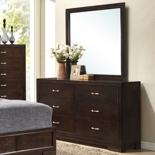 Voigt 6 Drawer Double Dresser with Mirror by Brayden Studio