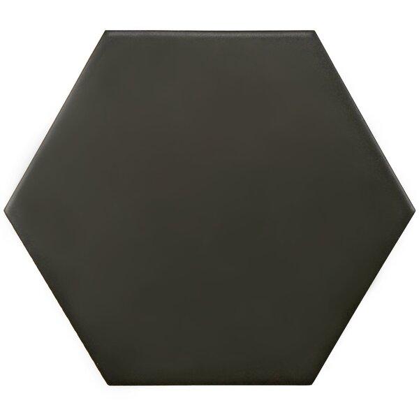 Hexitile 7 x 8 Porcelain Field Tile in Black by EliteTile