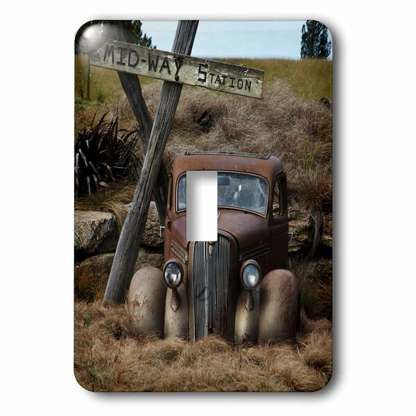 Old Car at Midway 1-Gang Toggle Light Switch Wall Plate by 3dRose
