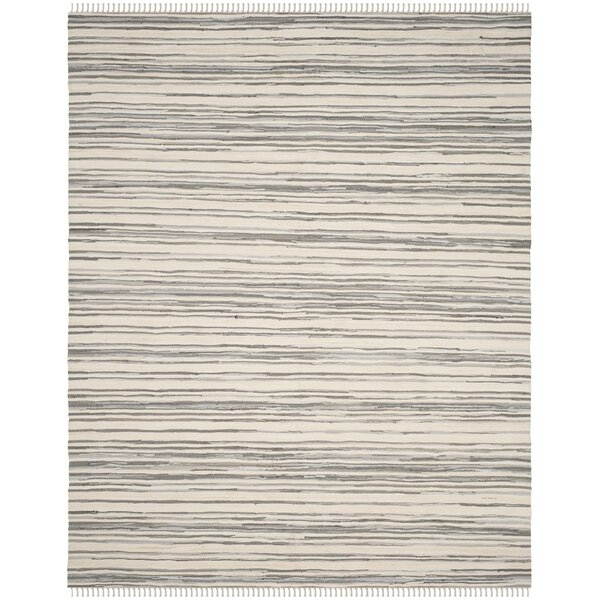 Shatzer Hand-Woven Ivory/Gray Area Rug by Wrought Studio