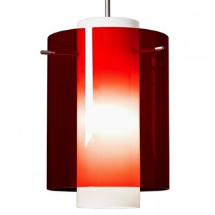 Rome 1  LED Cylinder Pendant By Bruck Lighting