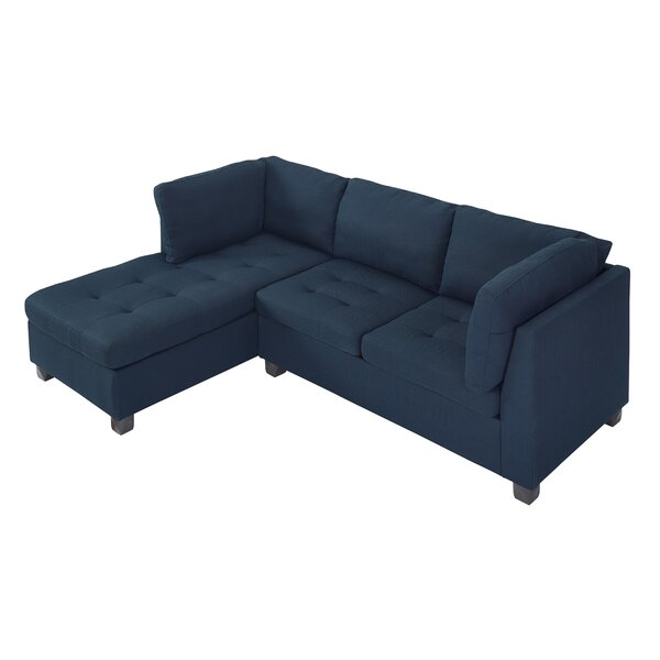 Hollingshead Reversible Sectional with Ottoman by Wrought Studio