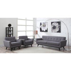 grey leather living room set. Amber 2 Piece Living Room Set Modern Sets  AllModern