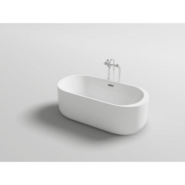 Piave 67 x 31.5 Freestanding Soaking Bathtub by Kokss