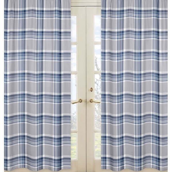 Plaid Curtain Panels (Set of 2) by Sweet Jojo Designs