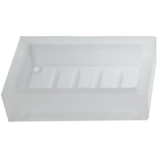 Cowhill Frosted Glass Soap Dish by Ebern Designs