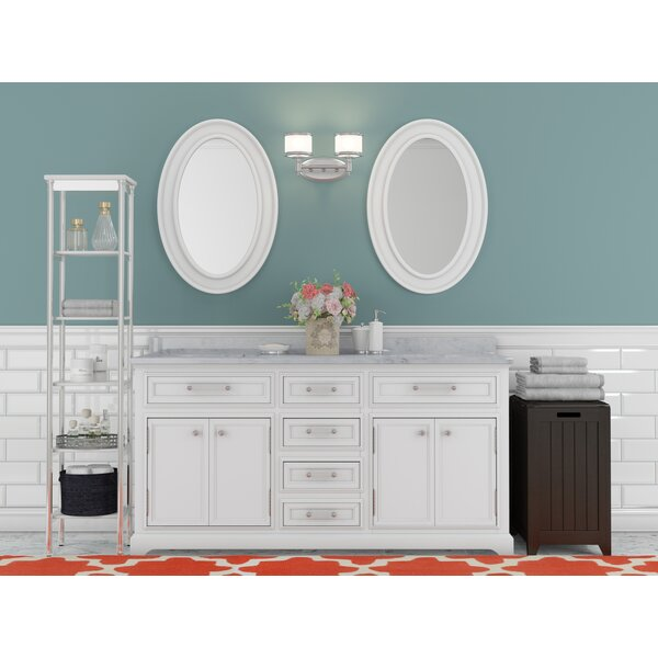 Bergin 60 W Double Sink Bathroom Vanity Set with Mirror by Three Posts