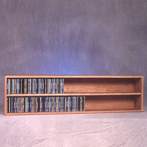 200 Series 236 CD Multimedia Tabletop Storage Rack by Wood Shed