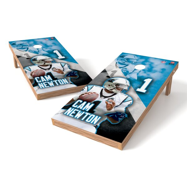 NFLPA Panters Cam Newton Cornhole Board by Tailgate Toss