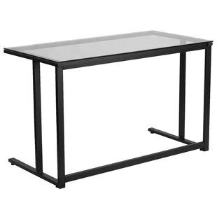 Reviews Homewood Writing Desk with Pedestal Frame By Ebern Designs