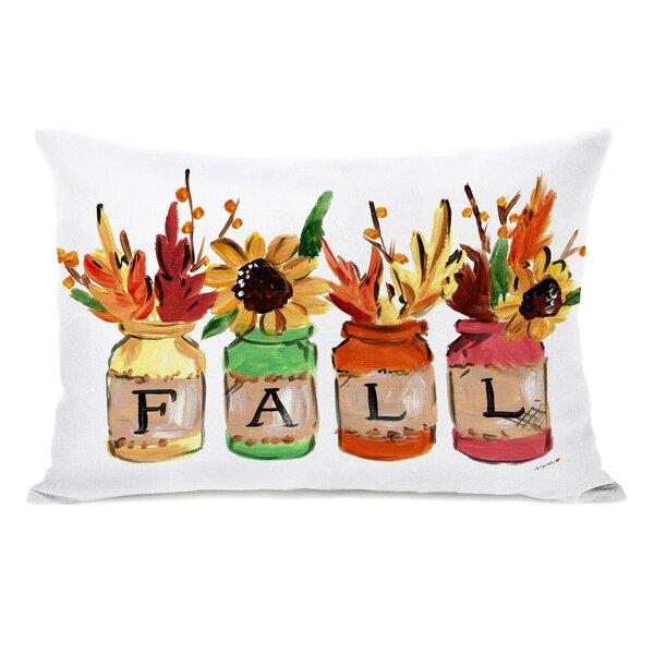 Slatington Fall Mason Jars Throw Pillow by Alcott Hill