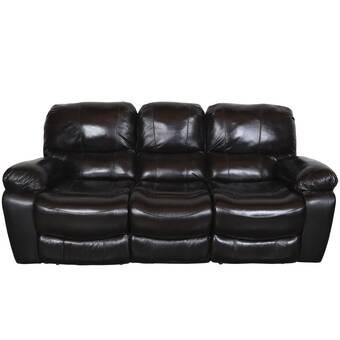 Red Barrel Studio Rashida Modern Leather Reclining Sofa ...