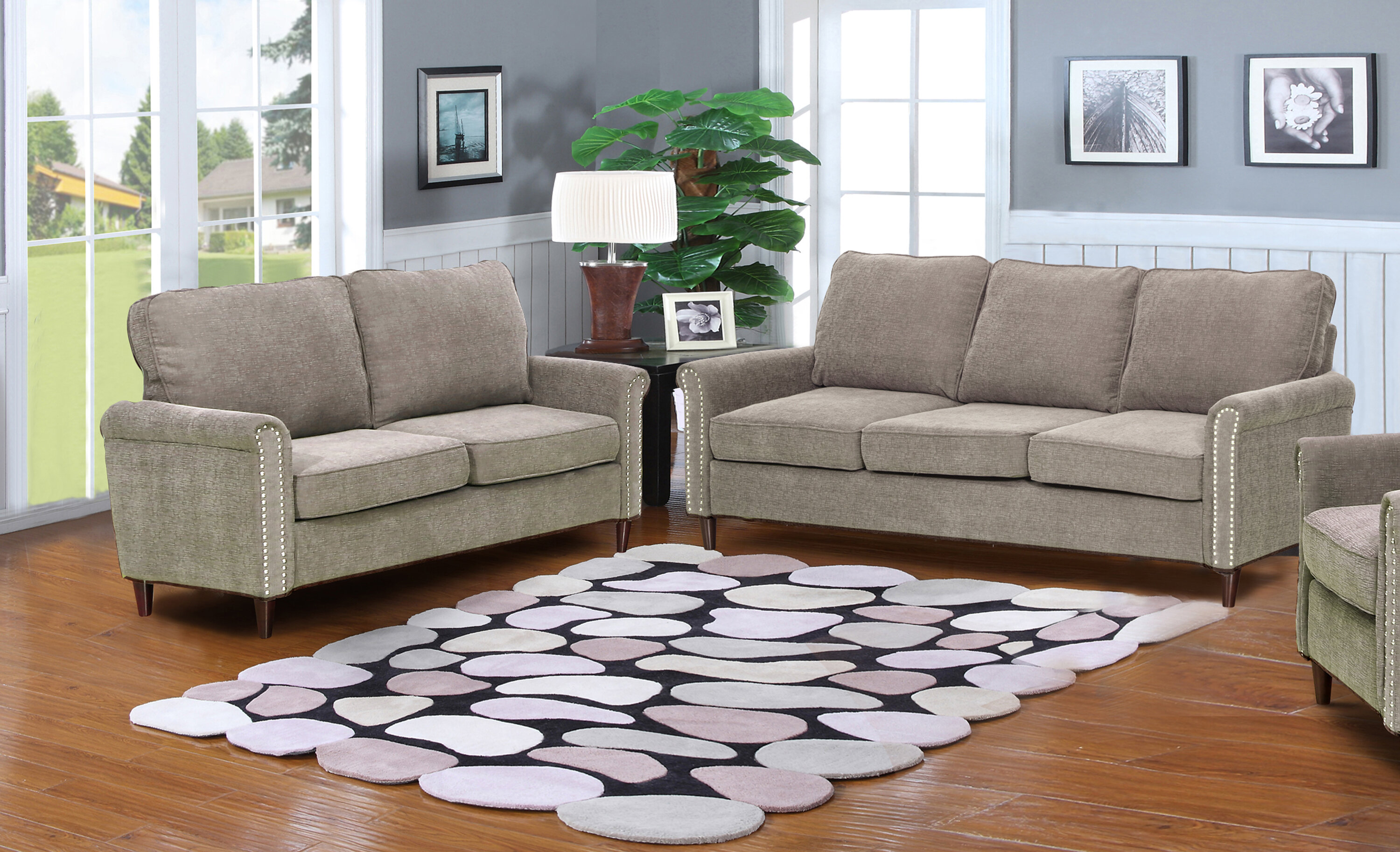Beau Charlton Home Hayton Fabric Modern 2 Piece Solid Living Room Set U0026 Reviews  | Wayfair
