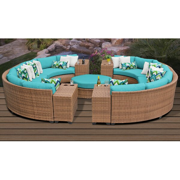 Waterbury 11 Piece Sectional Seating Group with Cushions by Sol 72 Outdoor Sol 72 Outdoor