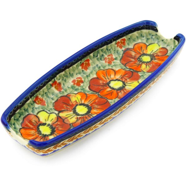Bold Poppies Platter by Polmedia