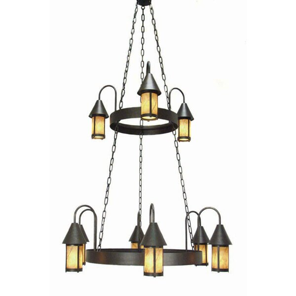 9 - Light Shaded Tiered Chandelier by 2nd Ave Design 2nd Ave Design