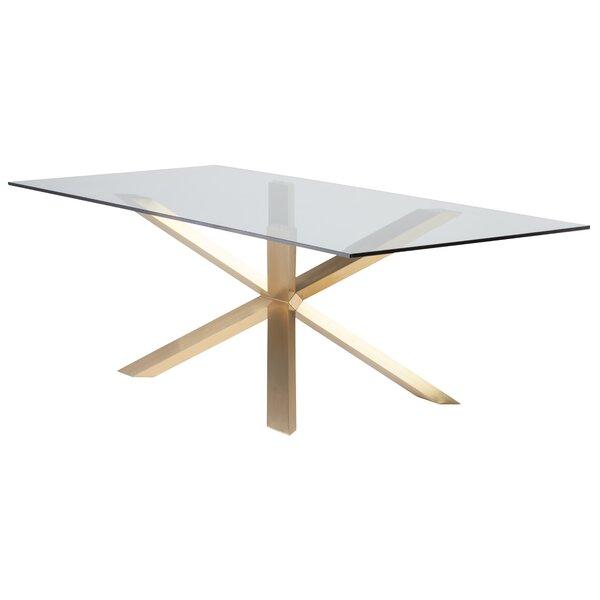Boler Rectangular Glass Top Dining Table by Orren Ellis Orren Ellis