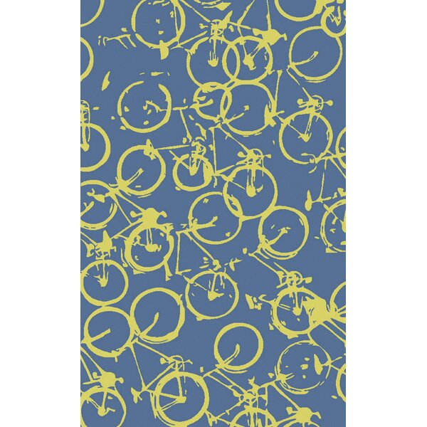 Bowers Hand-Tufted Yellow/Blue Area Rug by Brayden Studio