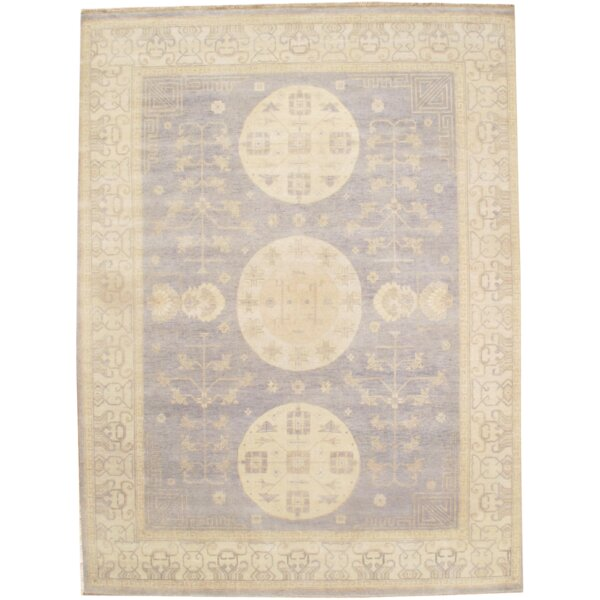 Hand Knotted Wool Gray/Ivory Area Rug by Pasargad NY